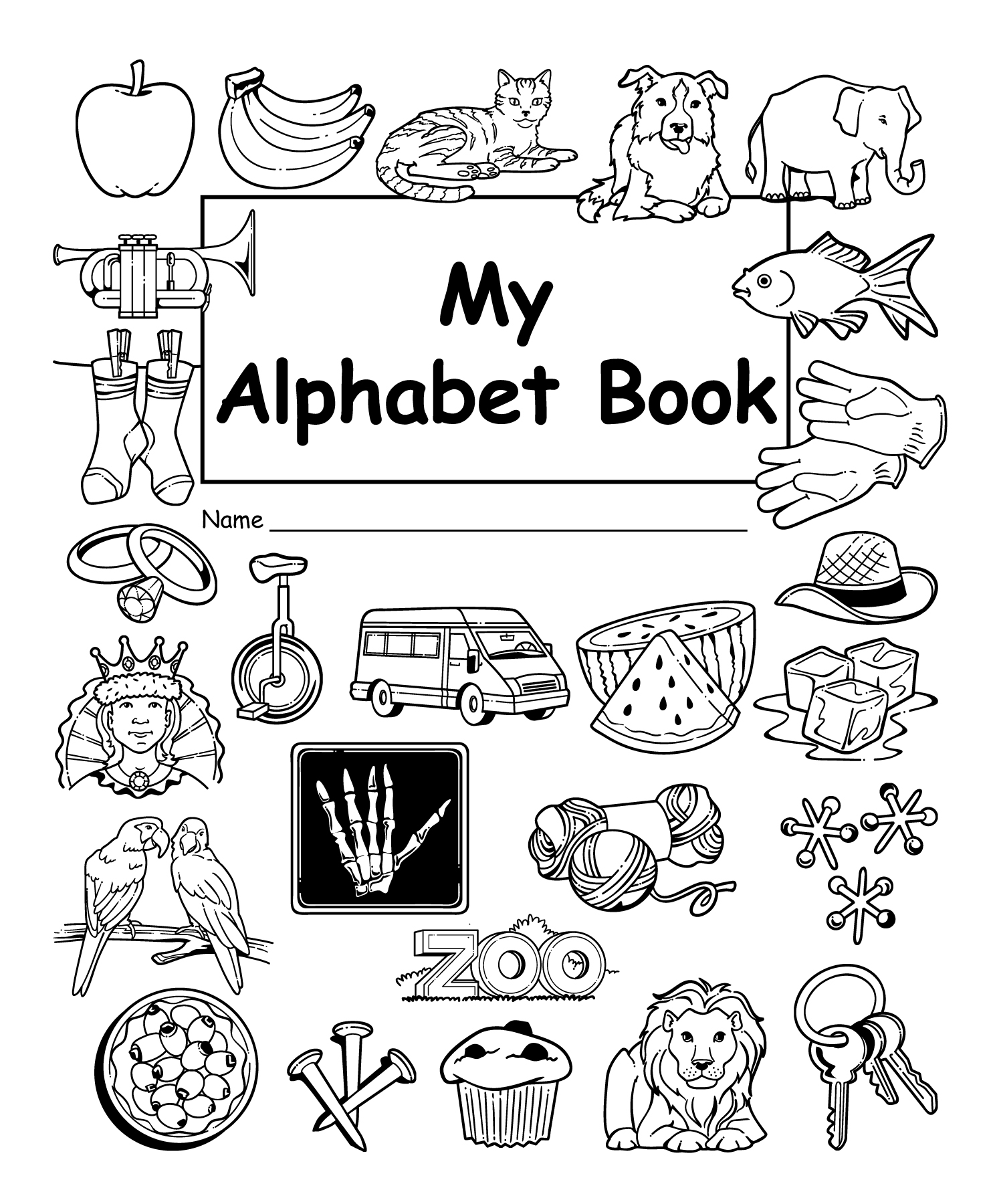 My Own Alphabet Book 10 Pack