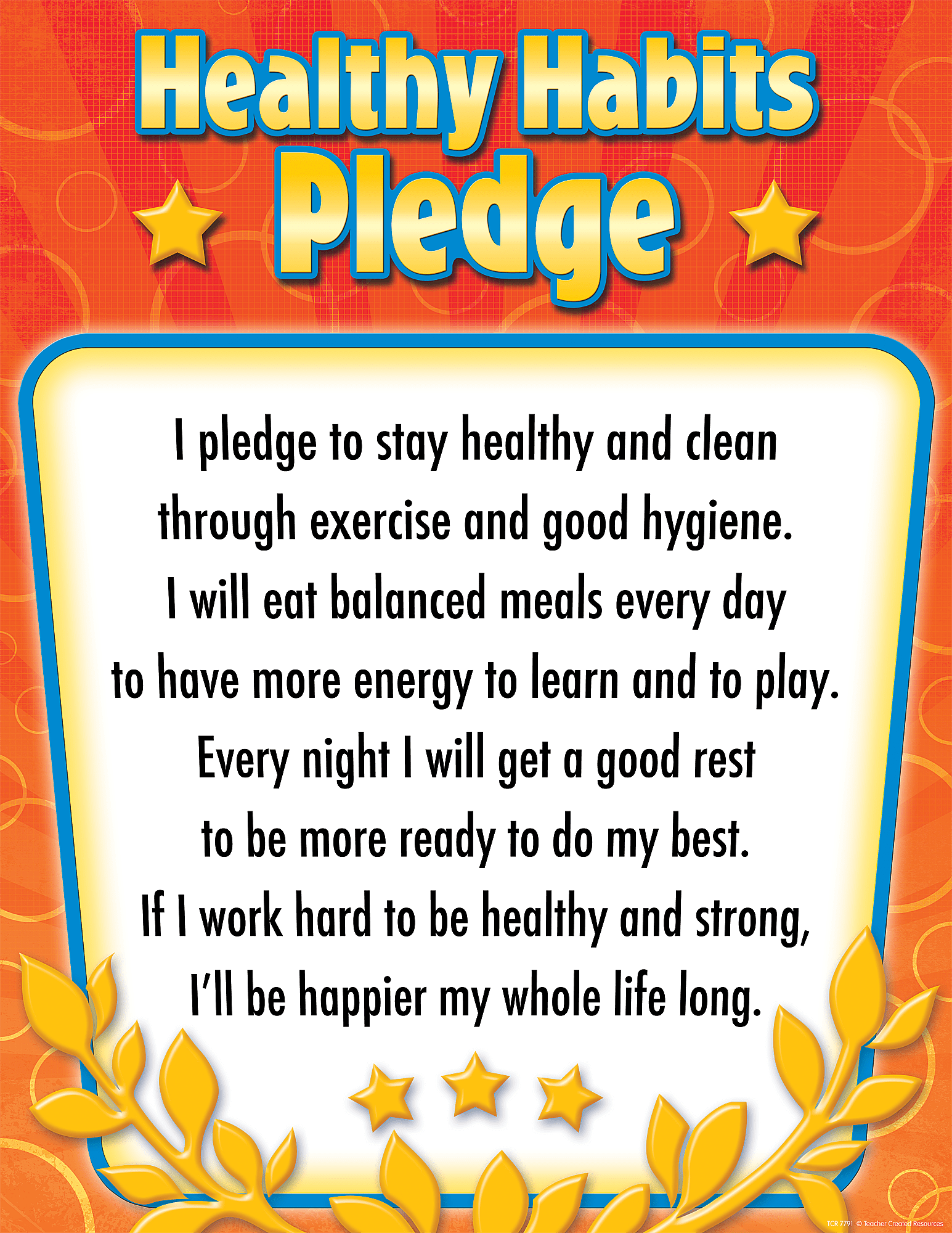Healthy Habits Pledge Chart