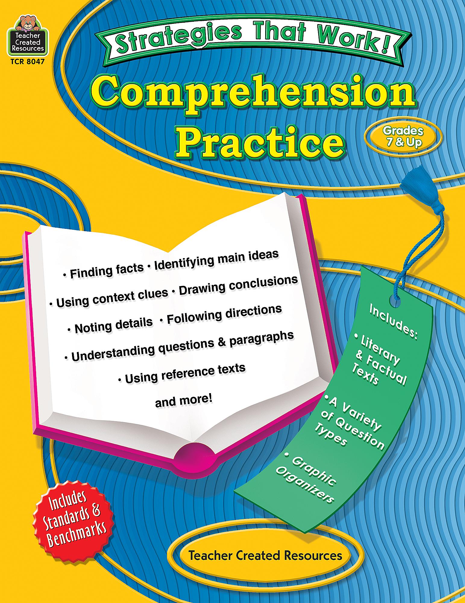 Strategies That Work Comprehension Practice Grades 7 Amp Up