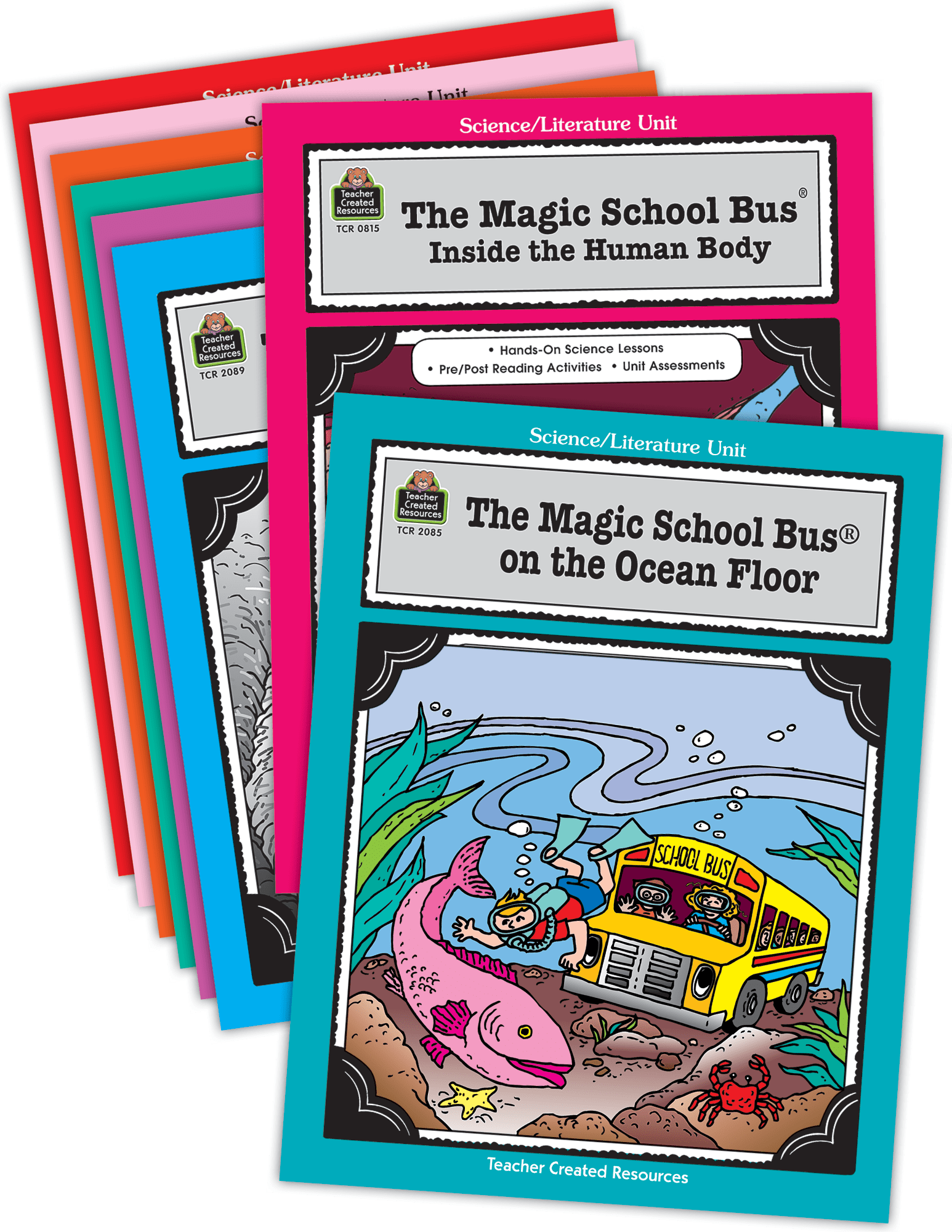 Magic School Bus Literature Units Set 8 Books