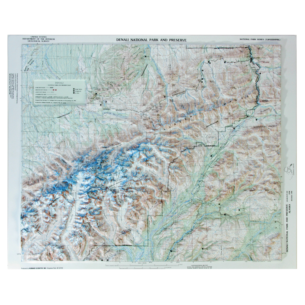 Hubbard Scientific Raised Relief Map Denali National Park