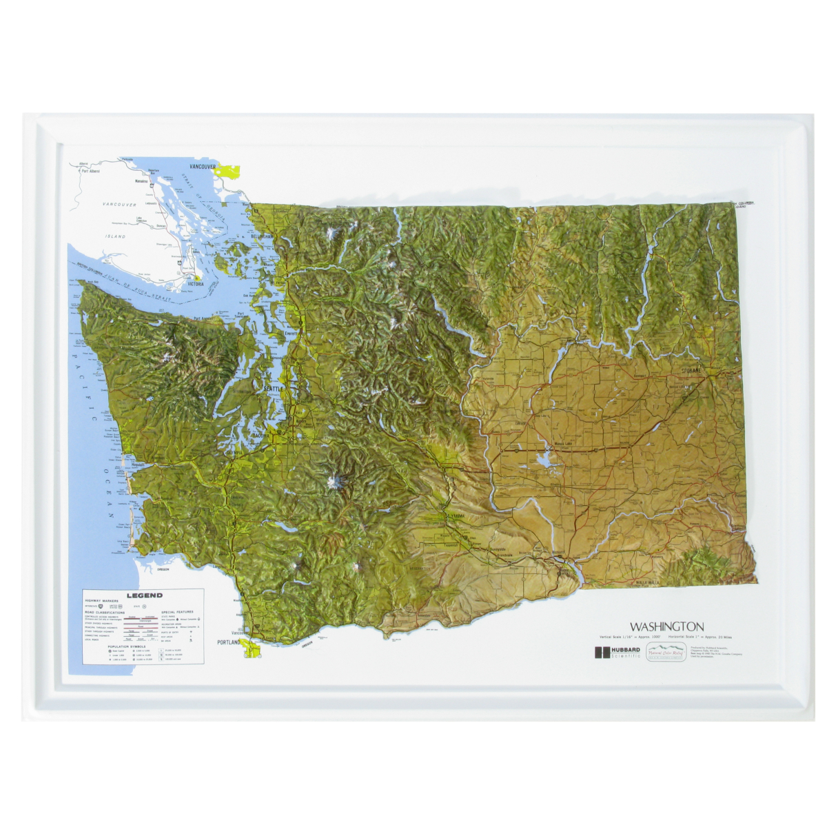American Education Raised Relief Map Washington Ncr