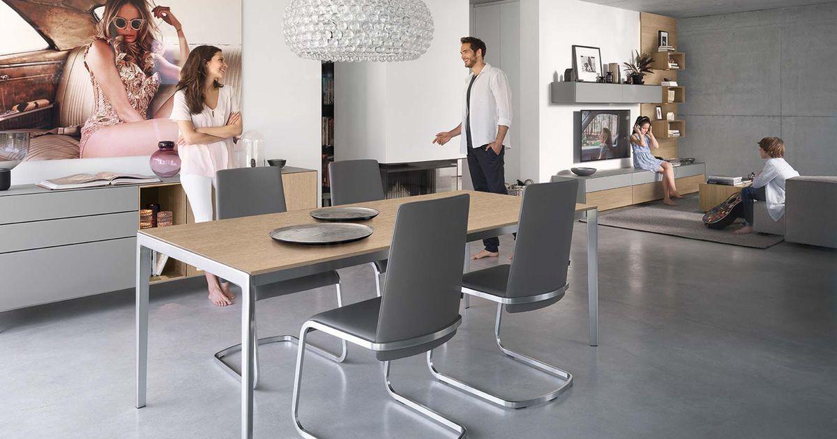 table extensible tak avec pied en metal