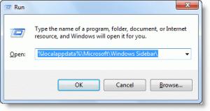 %LOCALAPPDATA%MicrosoftWindows Sidebar