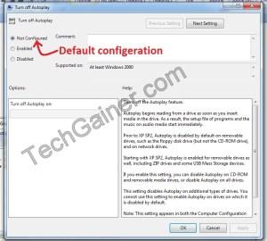 AutoPlay is not configured in default