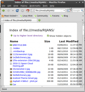 """Browsing """"rijans"""" named drive from firefox on Ubuntu Linux"""