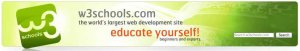 W3Schools Header (learcn web developing for free)