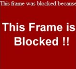 frame is blocked