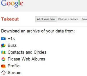 Download Your All Google Data with One Click with Google Takeout