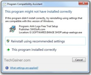 "How to Disable ""This Program might not have Installed Correctly"" Prompt on Windows 7 and Vista"