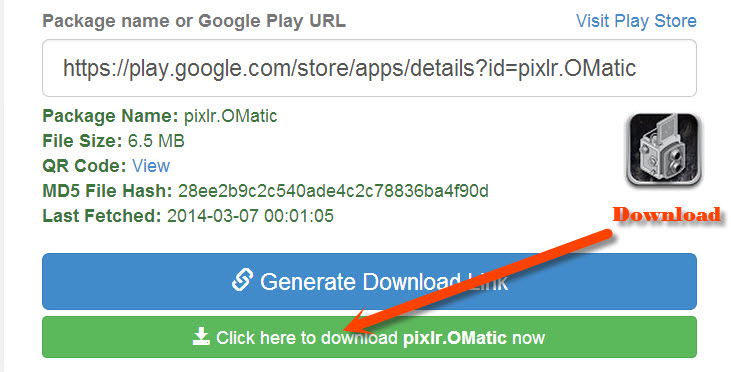 Download apk package