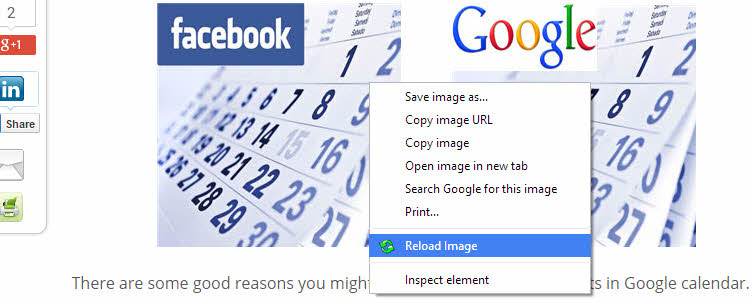 Reload Image extension for Chrome