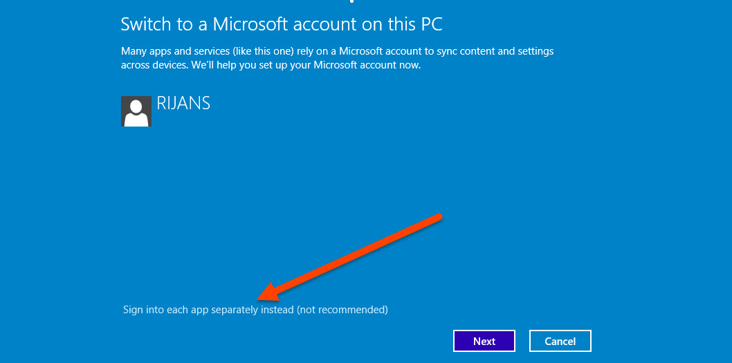 Install Windows Store Apps Without Switching to Microsoft