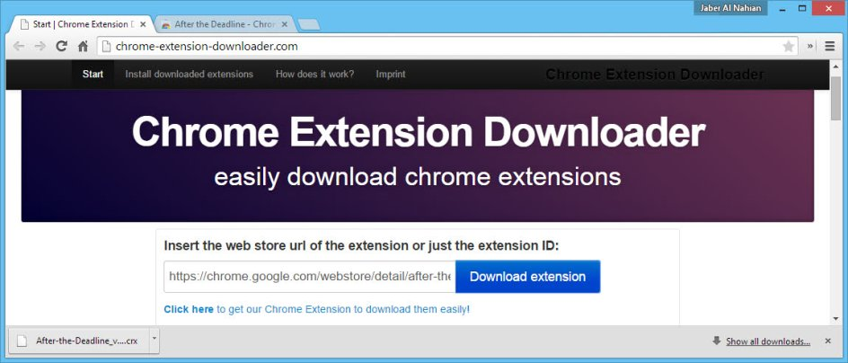 Chrome extension downloader