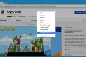 CRX Downloader in Chrome context menu
