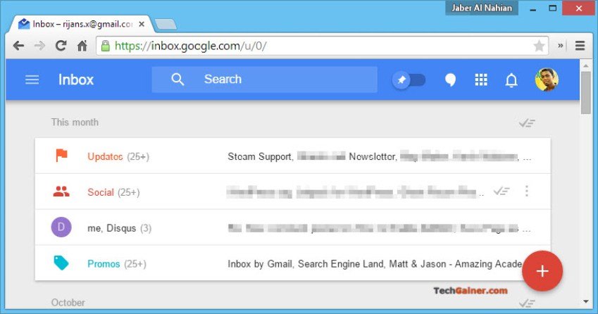 Inbox by Google bundles your emails into groups