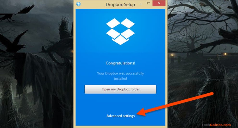 how to get dropbox folder