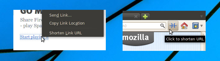 Firefox URL Shortener Add-ons