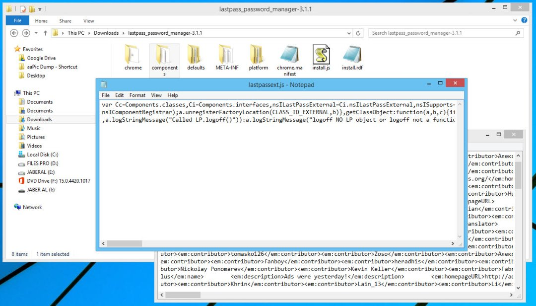 Firefox addon source code