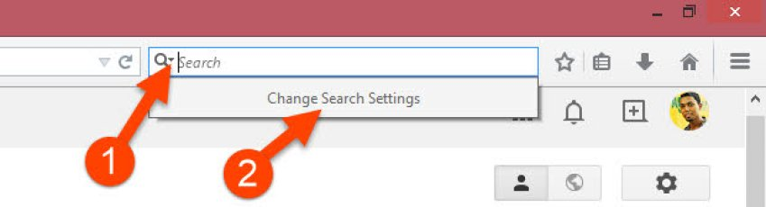 Change Firefox Search Settings