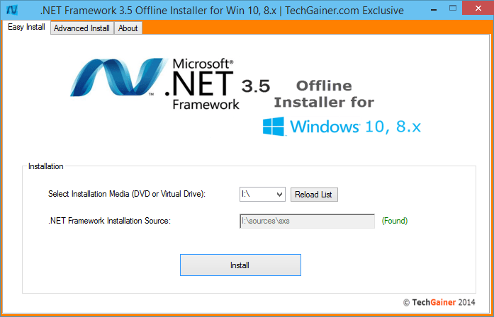 Install the .NET Framework 3.5 on Windows 10, Windows 8.1, and Windows 8