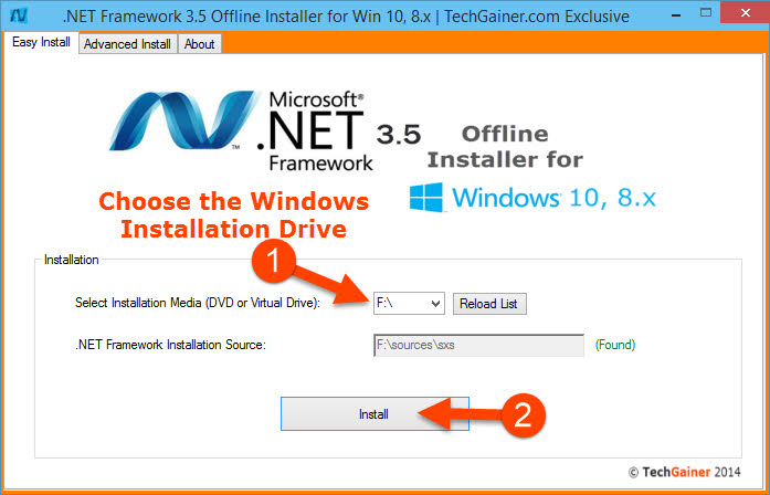 How to Offline Install .NET Framework 3.5 in Windows 10 and 8 Easily
