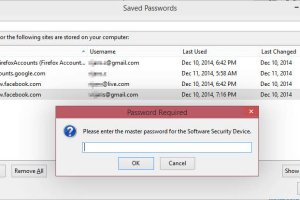 Lock Firefox saved passwords