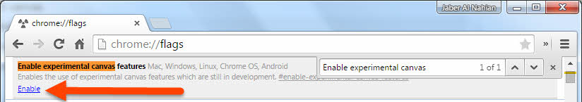 Enable experimental canvas features