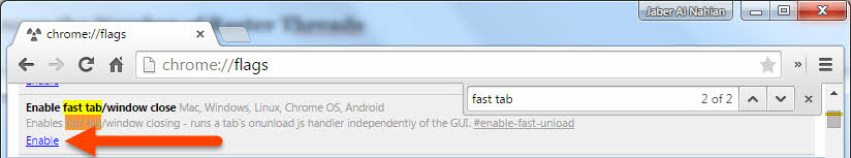 Enable fast tab/window close