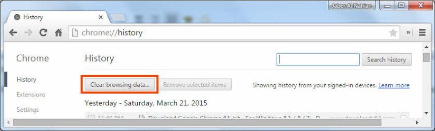 Chrome History