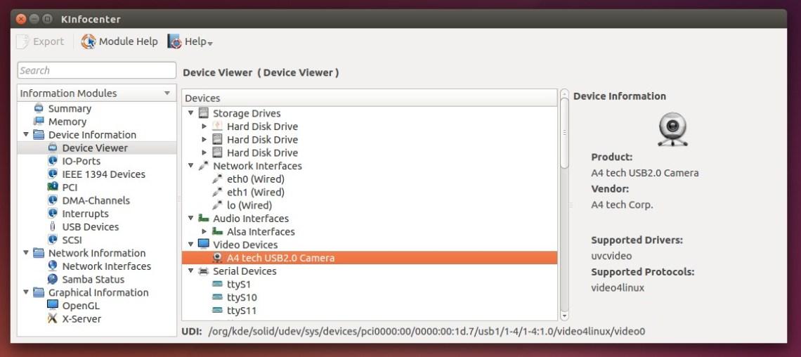KDE Info Center