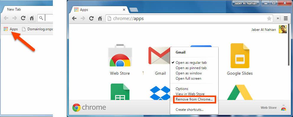 Uninstall a Chrome app