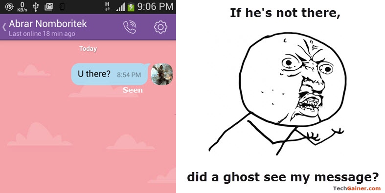 "Troll of Viber's ""Seen"" status in message"