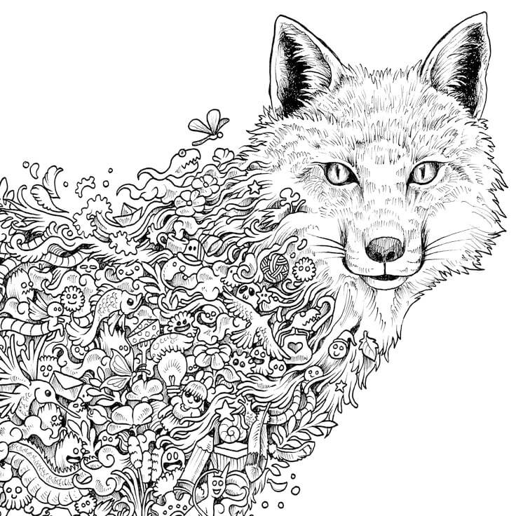 Adult Coloring Pages animals   colouring pages animals hard