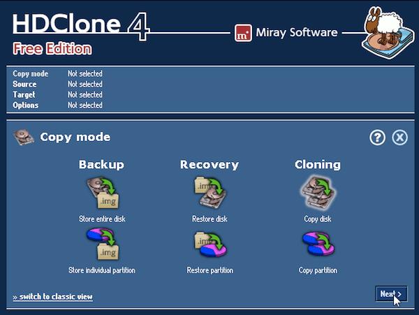 HDClone Free Edition daemon tools alternative