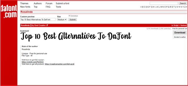Sites Like DaFont