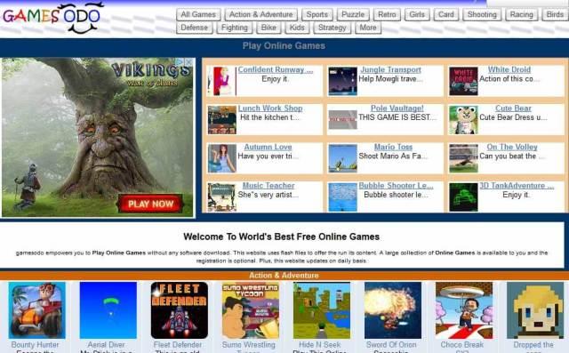 gamesodo Best flash game sites