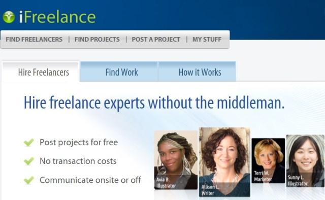 ifreelance online jobs site