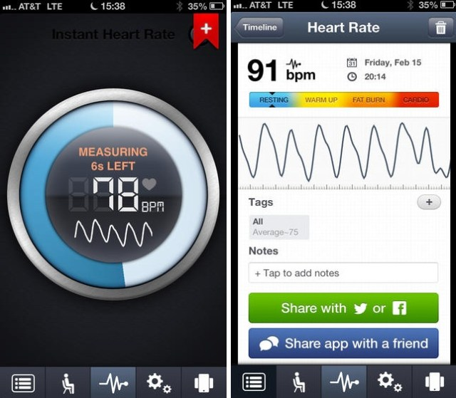 Image result for instant heart rate app