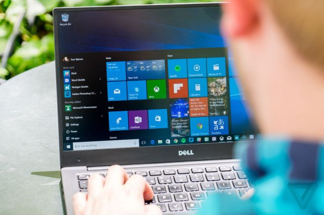 working on windows 10 laptop