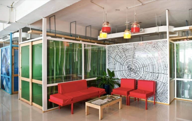 BHIVE's work space for startups.