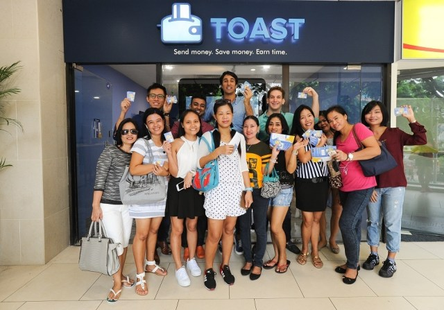 Toast team and customers