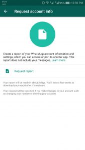 WhatsApp Now Lets You Download All Your Account Data