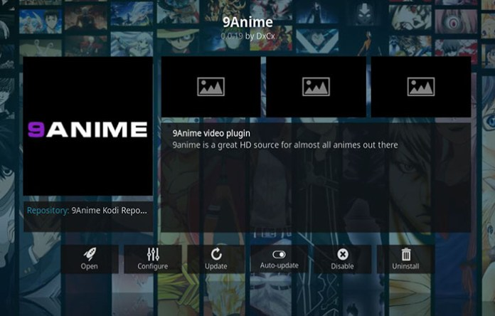 Anime Kodi Addons - 9Anime