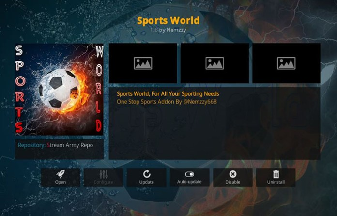 Boxing Kodi Addons - Sports World