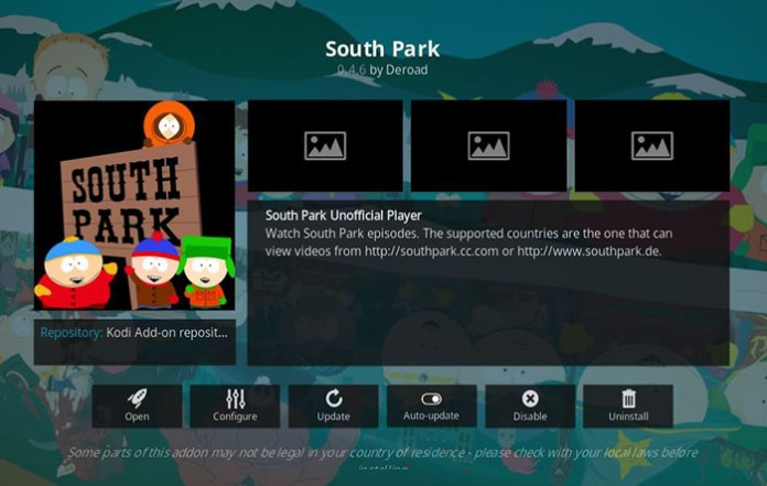 Cartoon Kodi Addons - South Park