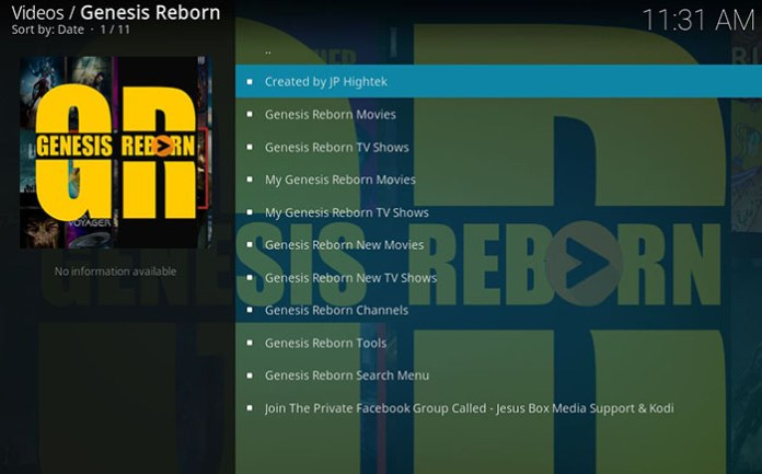 Best Kodi Bollywood Addons - Genesis Reborn 2
