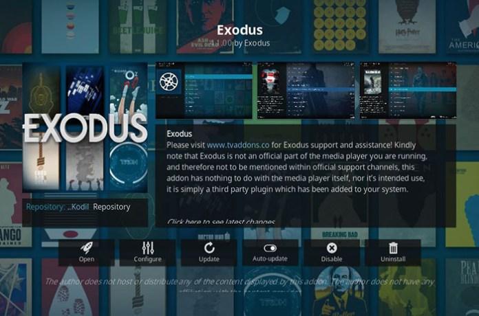 Korean Kodi Addons - Exodus