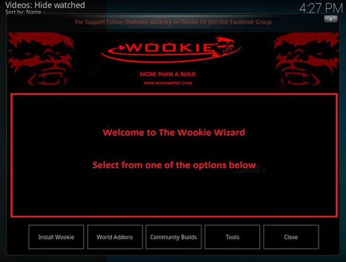 Wookie Kodi Build - 9