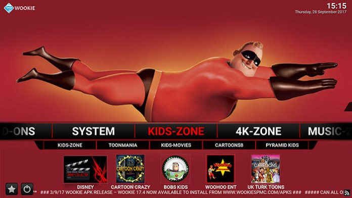 Wookie Kodi Build - Kids Zone